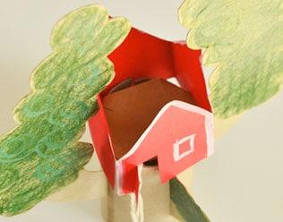 MAKE A PAPER TREE HOUSE