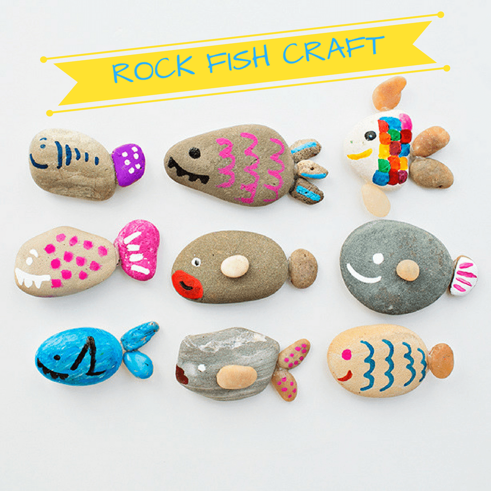 rock crafts ideas rock fish craft 1 hello wonderful 2845