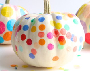 13 ARTSY NO CARVE PUMPKIN IDEAS TO TRY WITH THE KIDS THIS HALLOWEEN