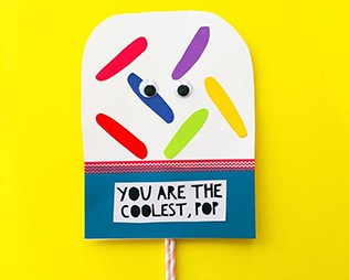 COOLEST POP DIY FATHER'S DAY CARD