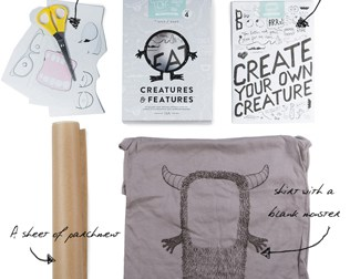 MAKE YOUR OWN MONSTER TEE KIT FROM CREATURES & FEATURES