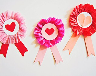 Cute Cardboard Valentine Ribbon Craft For Kids