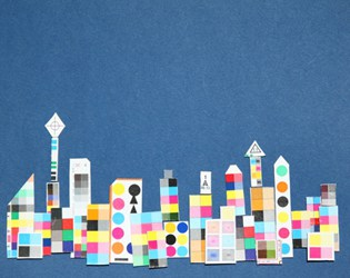 Easy Recycled Paper City Collage Art