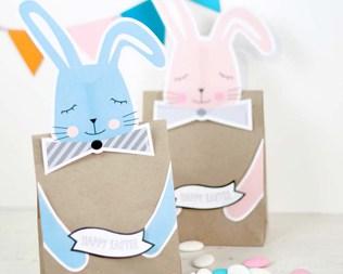 Easter free printable bunny treat bags negle Choice Image