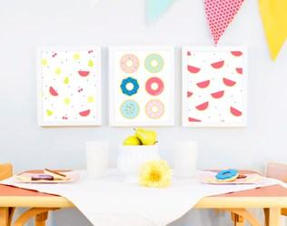 HAPPY CHILDREN'S ART PRINTS FROM RITZY REBA