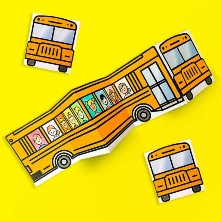 SCHOOL BUS OF FRIENDS FREE PRINTABLE