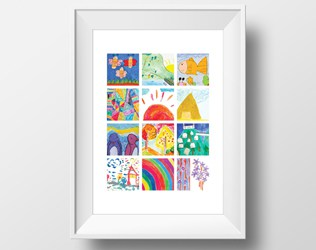 SHOW OFF YOUR KIDS' ART WITH MODERN PRINT COLLAGES FROM ITSY ART