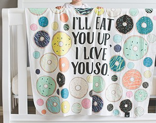 BEAUTIFUL ILLUSTRATED BABY BLANKETS FROM LITTLE AND LUXE Shop