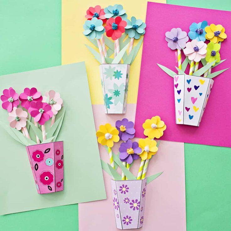3-D PAPER FLOWER BOUQUETS