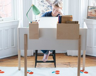 THE NEW MODERN BROOKLYN KIDS DESK FROM OEUF
