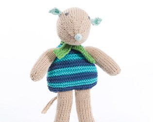 HANDKNIT FAIR TRADE TOYS WITH A MISSION FROM PEBBLE