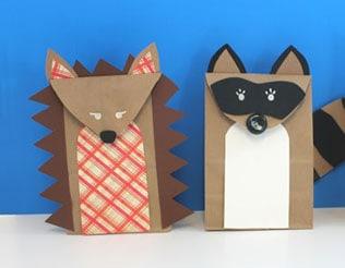 Make Woodland Animal Puppets