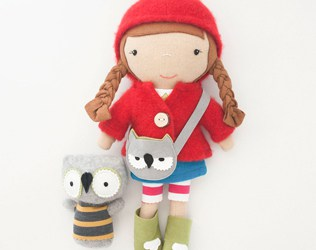 ADORABLE STITCHED DOLLS WITH A STORY FROM VIOLA STUDIO