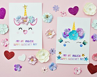 DIY UNICORN VALENTINE CARDS