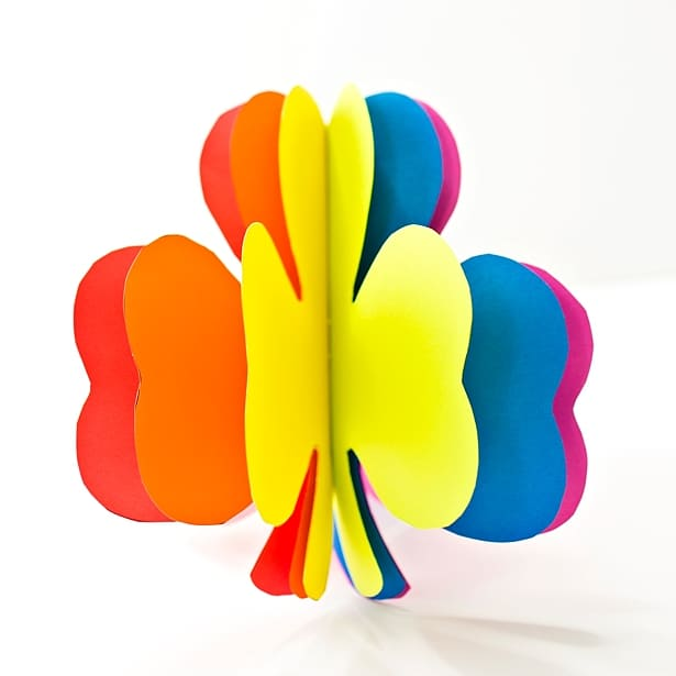 3d Rainbow Paper Shamrock Craft Hello Wonderful