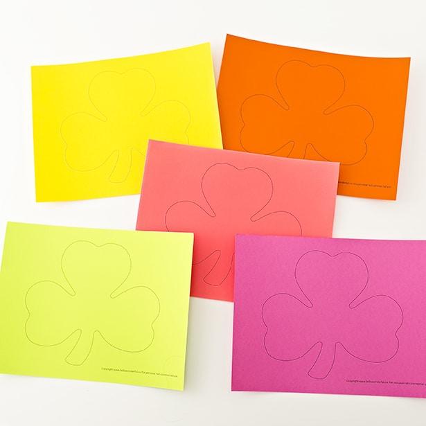 3d Rainbow Paper Shamrock Craft Hello Wonderful