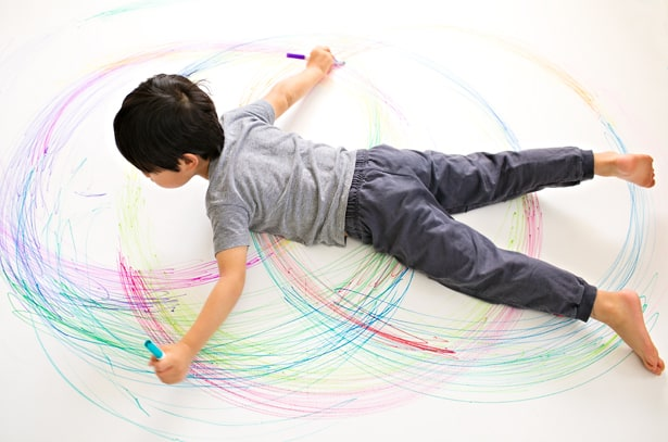 Giant Spirograph Art With Kids