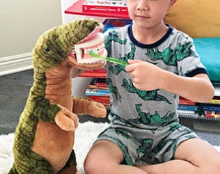 Dinosaur Tooth Brushing Toy for Kids