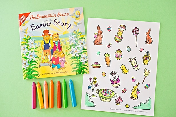 THE BERENSTAIN BEARS EASTER STORY COLORING SHEET Hello Wonderful