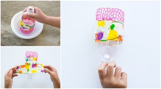 Recycled Bottle Bubble Art With Kids Hello Wonderful