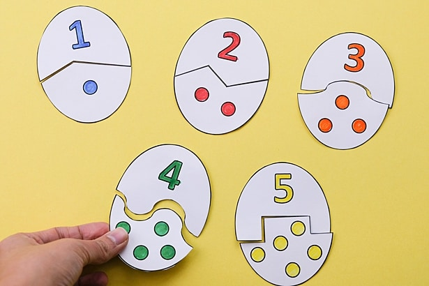 EGG COUNTING PUZZLE ACTIVITY