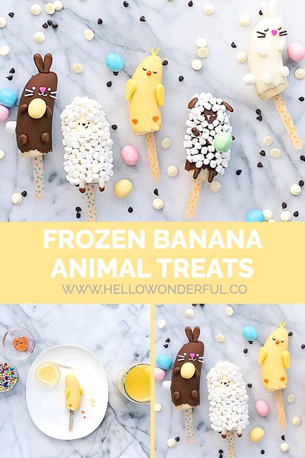 Frozen Banana Animal Treats