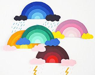 CARDBOARD RAINBOW ART