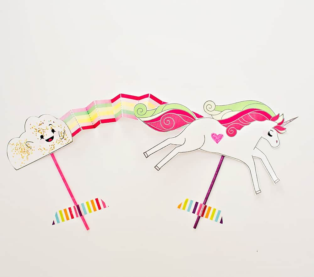 how to make a paper unicorn step by step