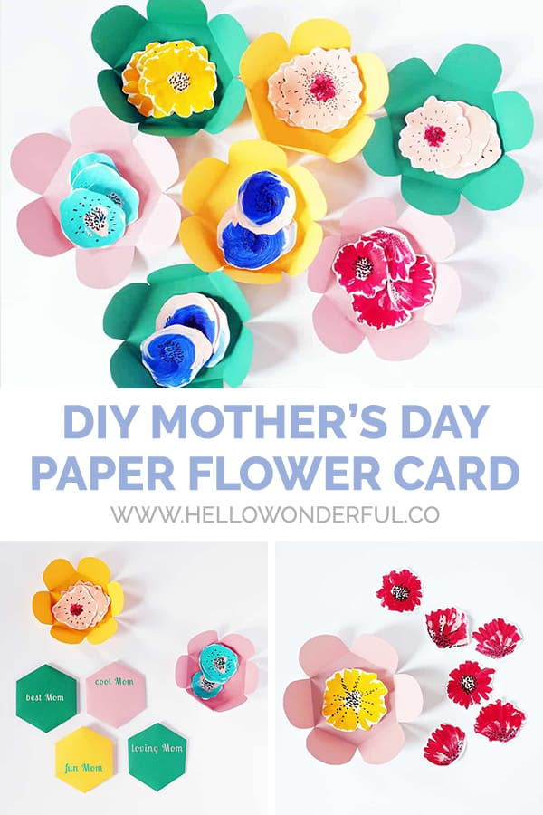 DIY Paper Flower Mother's Day Card
