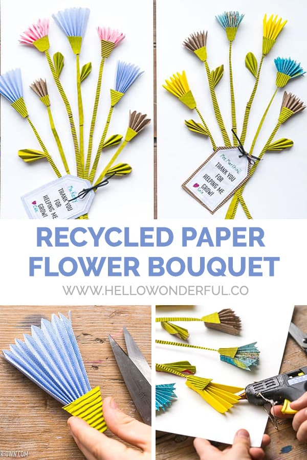 Recycled Paper Flower Bouquet