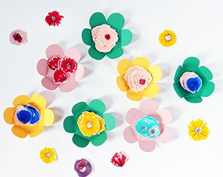 DIY MOTHER'S DAY PAPER FLOWER CARD