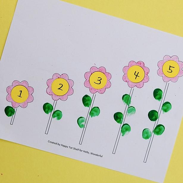 Flower Learning Printable Hello Wonderful