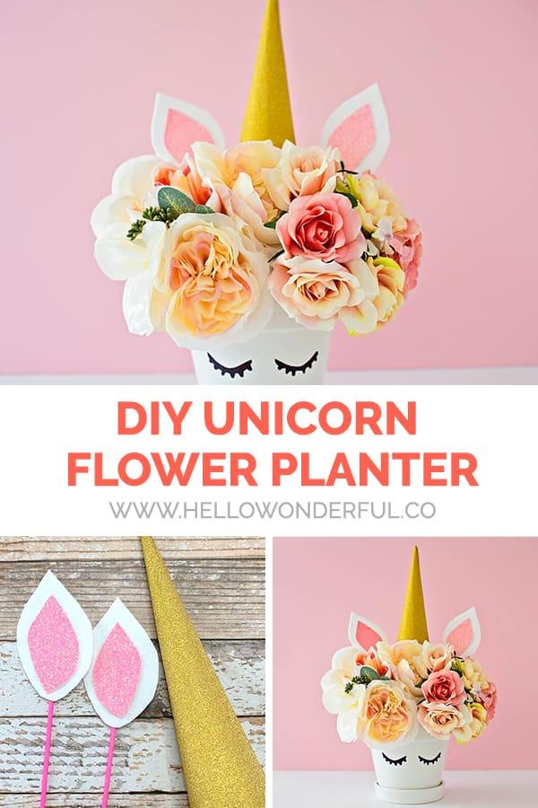 DIY Unicorn Flower Planter