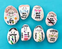 Make dad a personalized paperweight rock for a fun Father's Day craft and useful gift!