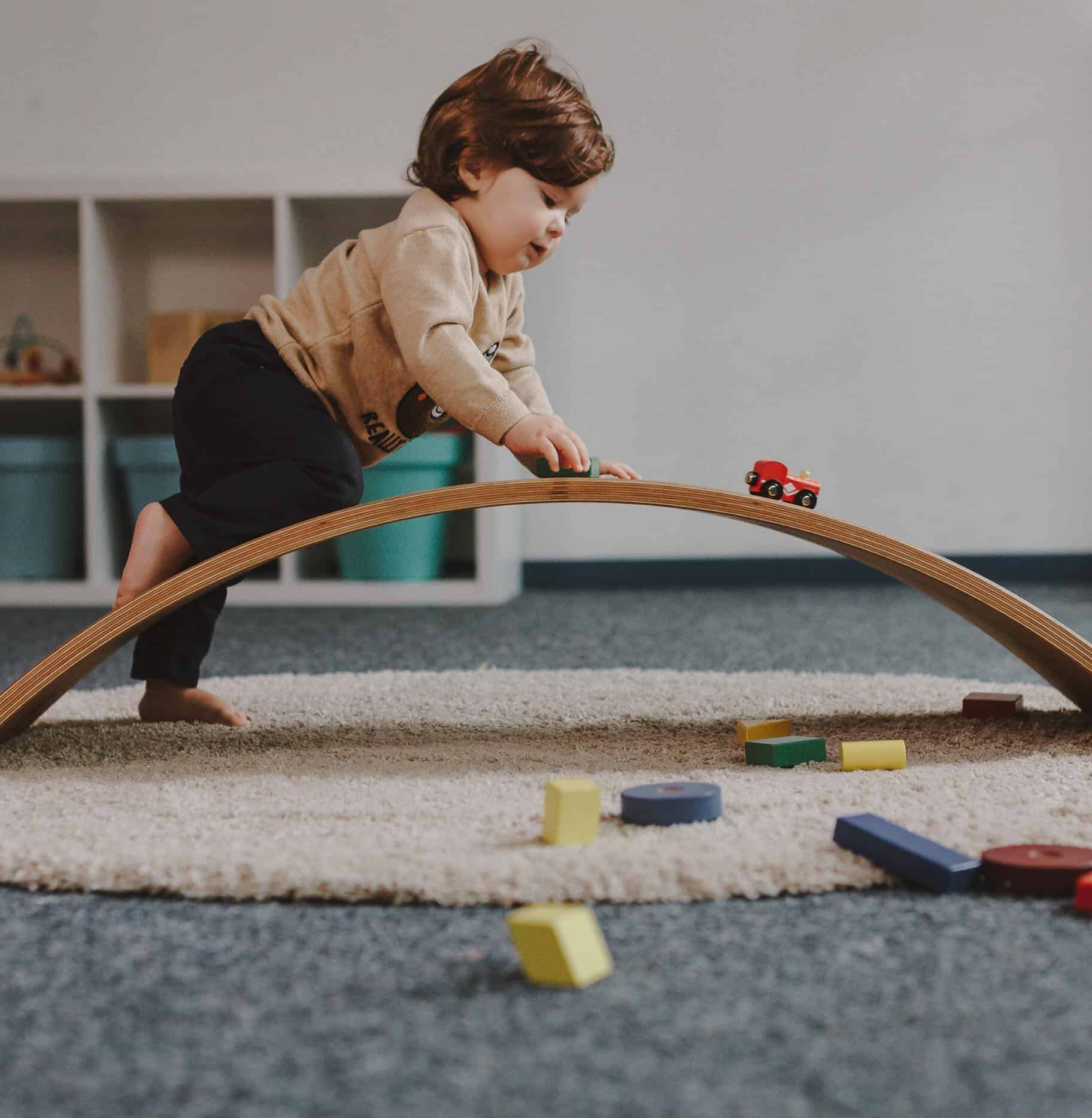 Balance Board Exercises For Back: WOODEN BALANCE BOARD FOR KIDS