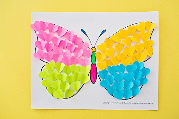 Butterfly Paper Heart Craft Hello Wonderful