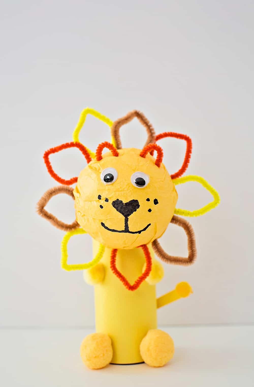 Cute Paper Tube Lion Craft Hello Wonderful