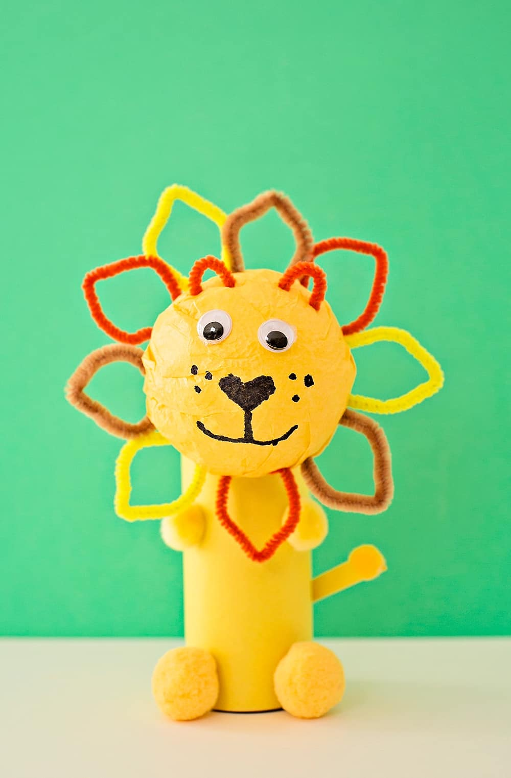 Cute Paper Tube Lion Craft Hello Wonderful