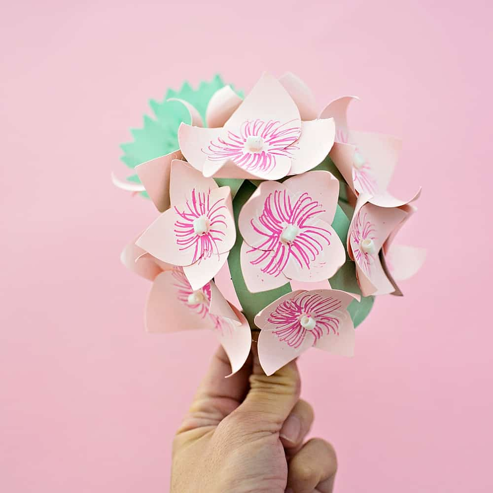 Diy Paper Hydrangea Flowers Hello Wonderful