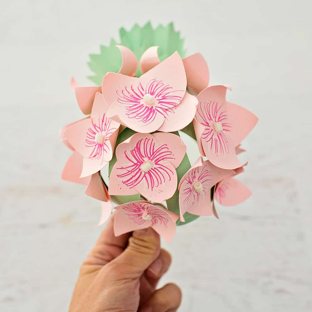 Diy paper hydrangea flowers hello wonderful scroll all the way down to watch the video below for the step by step video in how to make these pretty diy paper hydrangea flower and make sure to mightylinksfo