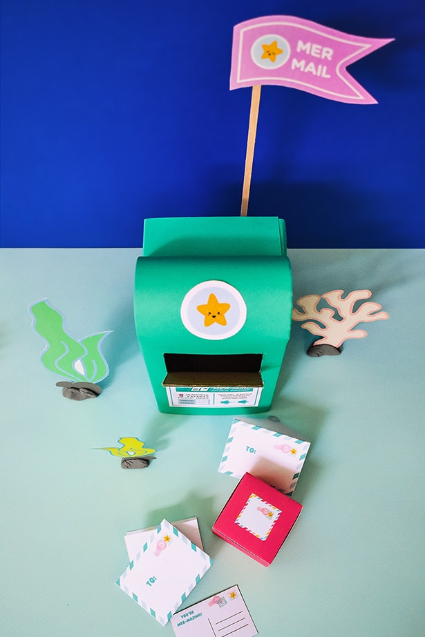 Make a Mer-Mailbox craft and fun Mermail with our free printable!