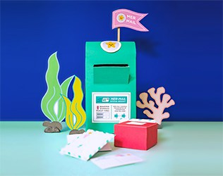 Make a Mer-Mailbox craft and fun Mer-Mail with our free printable!