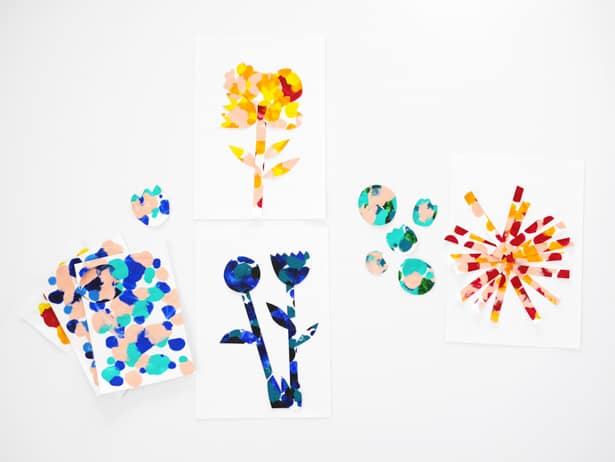Easy and beautiful paint dot symmetry art for kids!