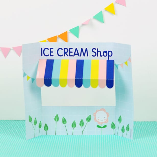 Make a cute ice cream shop for pretend play with our free printable! From hello, Wonderful