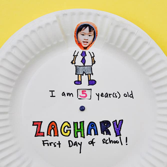 A cute and easy school paper plate craft for your kids!