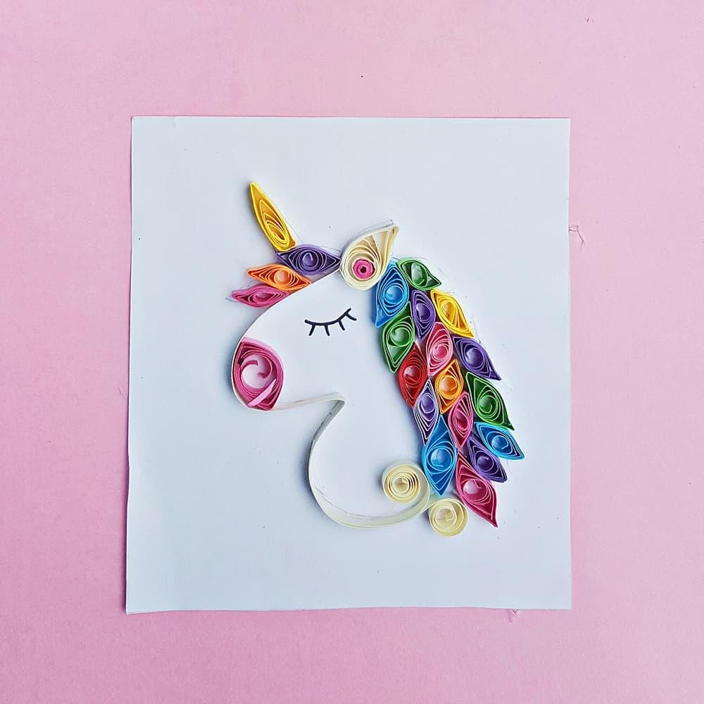 PAPER QUILL UNICORN ART - Hello Wonderful