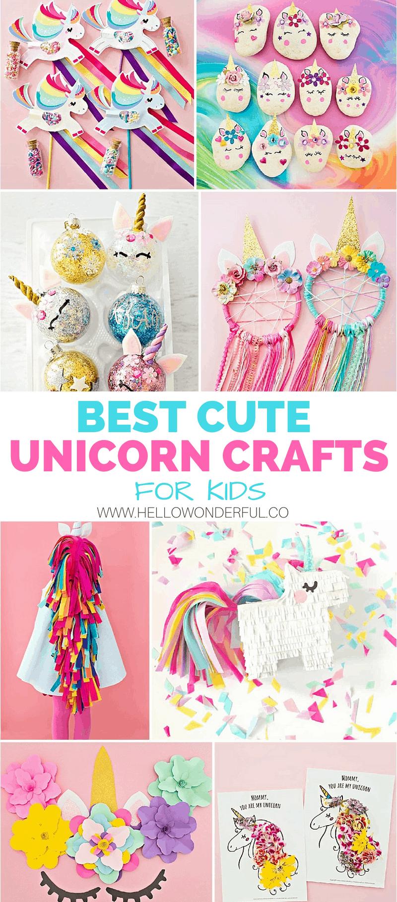 Cute Unicorn Crafts For Kids Hello Wonderful