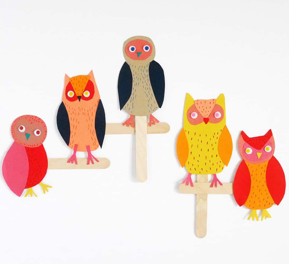 Paper Owl Stick Puppet Craft Hello Wonderful