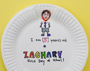BACK TO SCHOOL PHOTO PAPER PLATE CRAFT