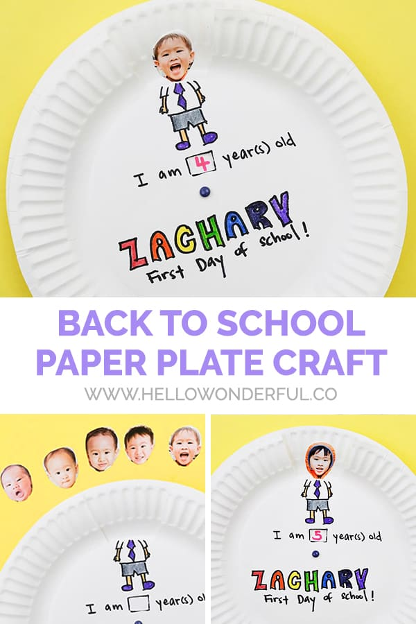Celebrate back to school with this cute photo paper plate craft